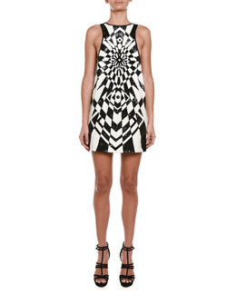 Emilio Pucci Geometric Allover Sequined Shift Dress