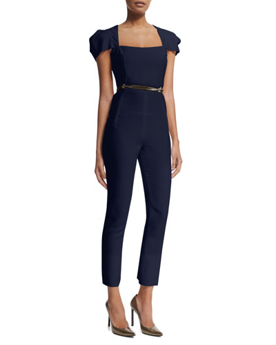 Galaxy Square-Neck Jumpsuit