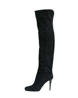 Jimmy Choo Gypsy Fitted Over-The-Knee Boot, Black