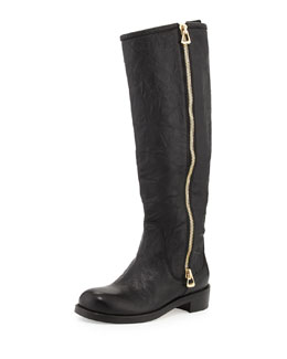 Jimmy Choo Doreen Flat Zip Knee Boot