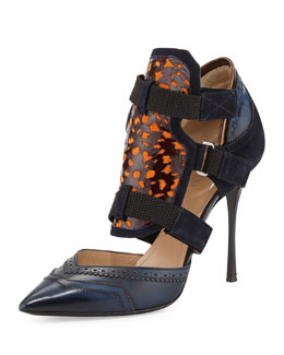 Nicholas Kirkwood Peter Pilotto Oxford Pump, Blue/Navy