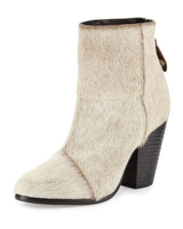 Rag & Bone Newbury Classic Calf Hair Ankle Boot, Oatmeal