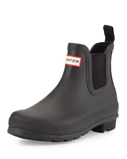 Hunter Boot Original Chelsea Rubber Boot, Black