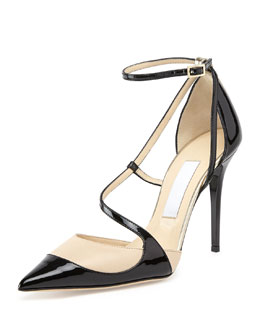 Jimmy Choo Mutya Asymmetric Point-Toe Pump