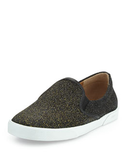Jimmy Choo Demi Glittered Skate Shoe, Gold