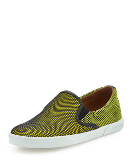 Jimmy Choo Demi Honeycomb Skate Shoe, Acid Yellow