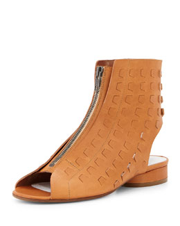 Maison Martin Margiela Perforated Leather Summer Bootie, Camel