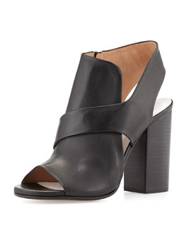 Maison Martin Margiela Cutout Leather Summer Bootie, Black