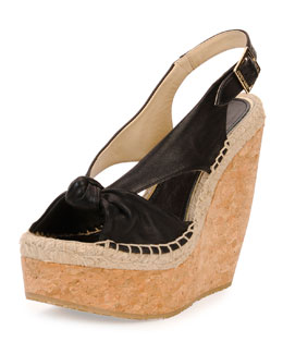 Jimmy Choo Parisa Espadrille Slingback Wedge, Black