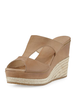 Jimmy Choo Pacane T-Strap Wedge Sandal, Tan