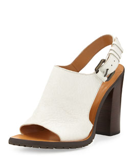 Derek Lam 10 Crosby Jemina Leather Sport Sandal, Soft White