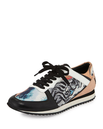 Kenzo Tiger-Print Lace-Up