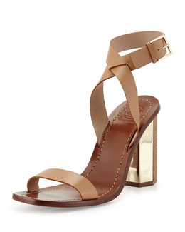 Tory Burch Bleecker Strappy Sandal, Natural Blush