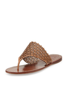 Tory Burch Daisy Perforated Thong Sandal