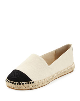 Tory Burch Canvas Colorblock Espadrille Flat