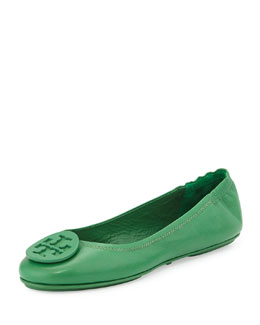 Tory Burch Packable Logo Ballet Flat, Emerald