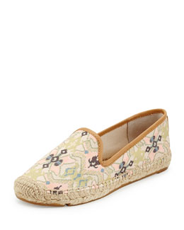 Tory Burch Biarritz Printed Canvas Espadrille Flat