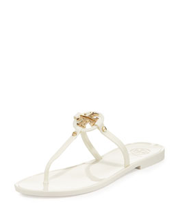Tory Burch Mini Miller Jelly Thong Sandal, Ivory