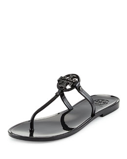 Tory Burch Mini Miller Flat Thong Sandal, Black