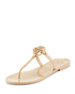 Tory Burch Mini Miller Flat Thong Sandal, Blush