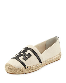 Tory Burch Double-T Canvas Espadrille Flat