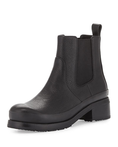 Original Grained Leather Chelsea Boot, Black