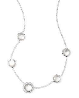 Ippolita Stella Necklace in Mother-of-Pearl Doublet & Diamonds 16-18""