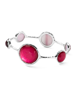 Ippolita Sterling Silver Wonderland Lollipop Bangle in Raspberry