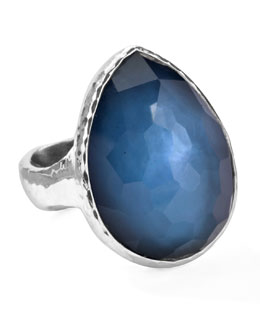 Ippolita Sterling Silver Wonderland Teardrop Ring in Indigo