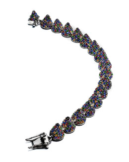 Pave Crystal Cone Small Bracelet, Multicolor