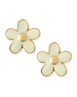 MARC by Marc Jacobs Daisy Stud Earrings, Cream/Golden