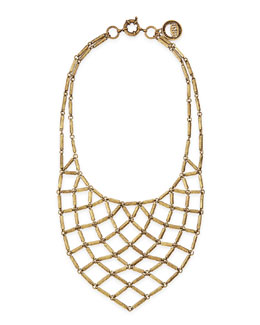 Giles & Brother Hammered Brass Bib Necklace