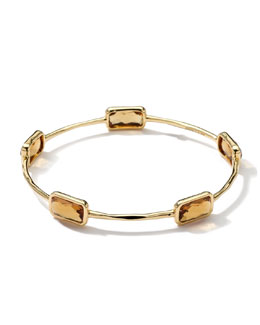 Ippolita 18k Gold Rock Candy Gelato 5-Stone Bangle, Cognac Citrine