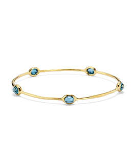 Ippolita 18K Gold Lollipop 5-Stone Bangle in London Blue Topaz