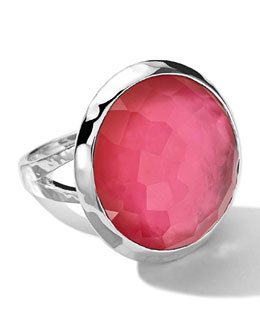 Ippolita Sterling Silver Wonderland Large Eggcup Ring in Peony Doublet