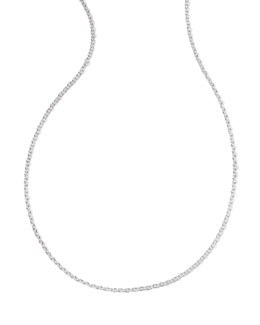 Ippolita Sterling Silver Thick Charm Chain Necklace, 16-18""