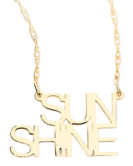 Jennifer Zeuner 18k White Gold Vermeil Sunshine Necklace