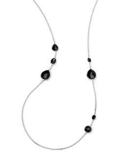 Ippolita Silver Rock Candy Necklace in Onyx, 33""