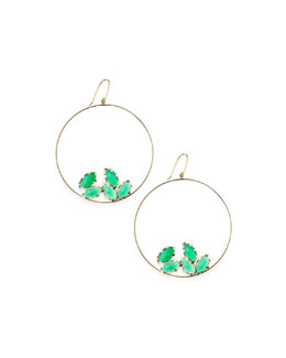 Lana 14k Gold Green Onyx Eclipse Earrings