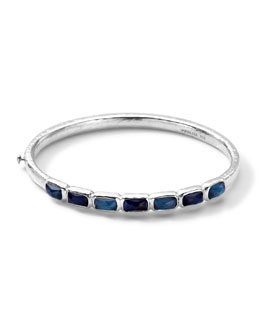 Ippolita Wonderland Hinged Quartz & Mother-of-Pearl/Pyrite Bangle