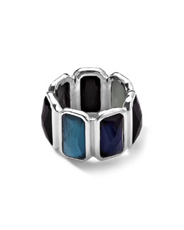 Ippolita Wonderland Quartz & Mother-of-Pearl/Pyrite Brick Ring