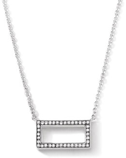 Ippolita Sterling Silver Rock Star Rectangle Pendant with Diamonds