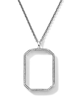 Ippolita Sterling Silver Rock Star Octagonal Pendant with Diamonds