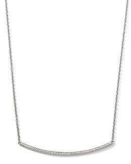 Ippolita Sterling Silver Pave Smile Necklace with Diamonds