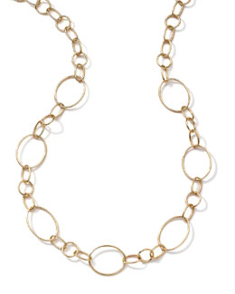 Ippolita 18k Gold Glamazon Link Necklace with Seven Ovals, 17""