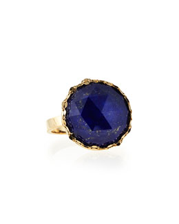 Lana Splash Circle Lapis Ring