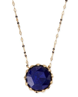 Lana Splash Rose-Cut Lapis Pendant Necklace