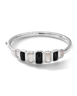 Ippolita Sterling Silver Wonderland Vertical 7-Stone Hinged Bangle in Astaire