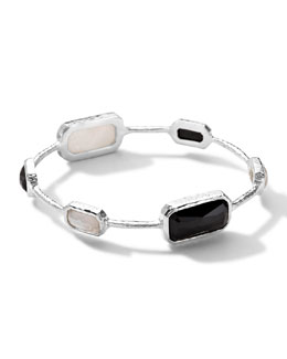 Ippolita Sterling Silver Wonderland Rectangular 6-Stone Bangle in Astaire