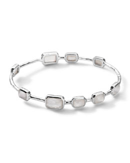 Ippolita 9-Stone Bangle in Mother-of-Pearl Doublet, Size 2